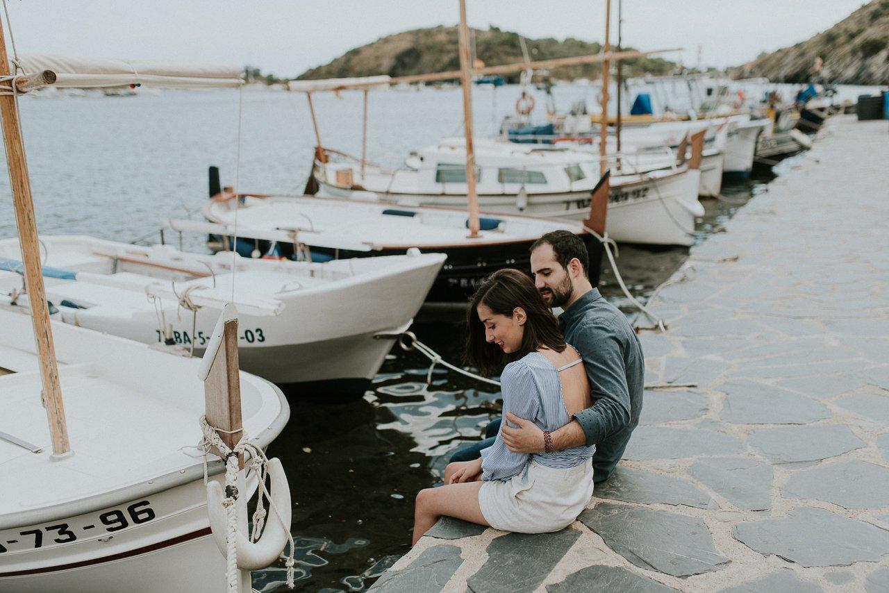 pareja enamorada en Cadaqués