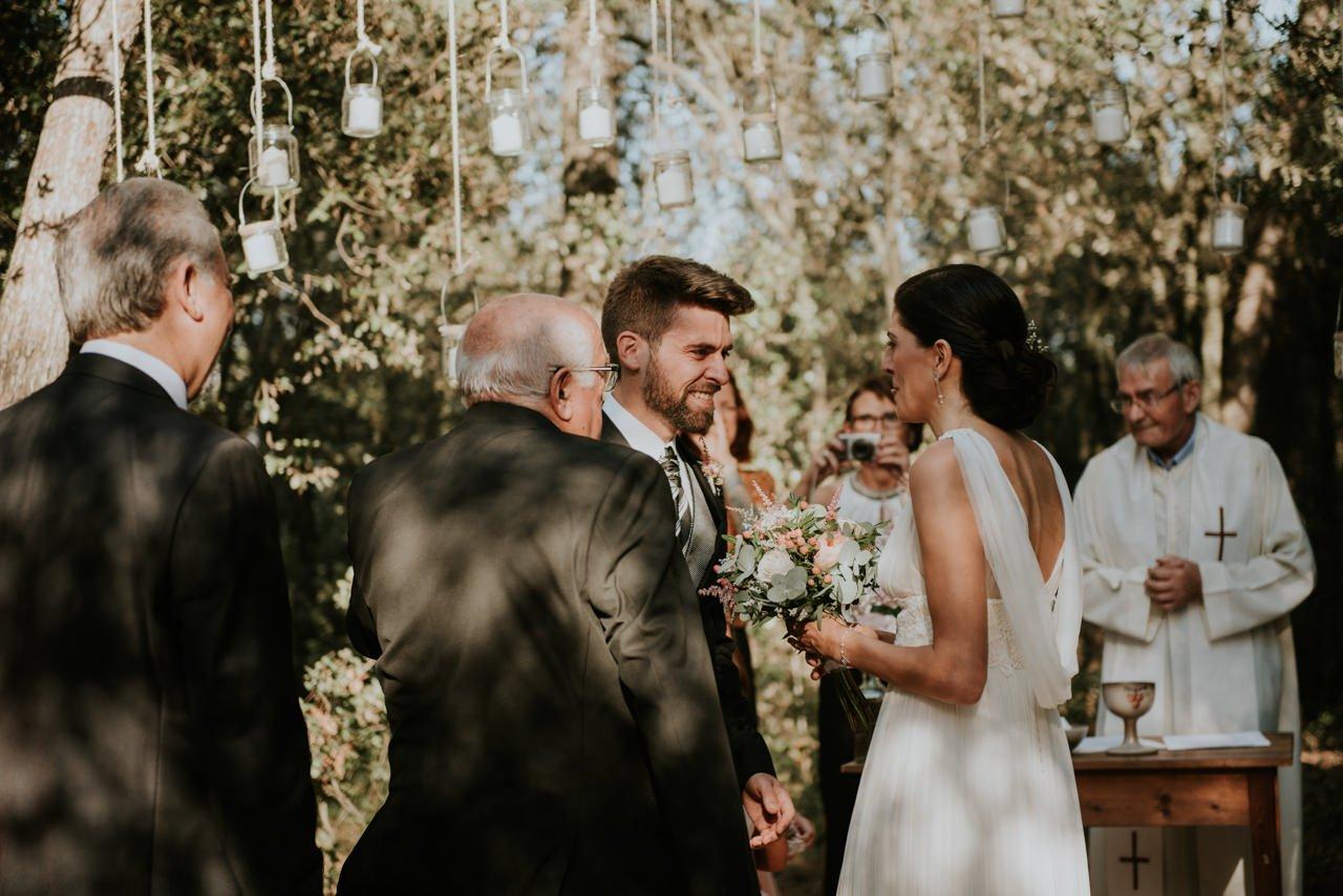 boda vintage en el bosque