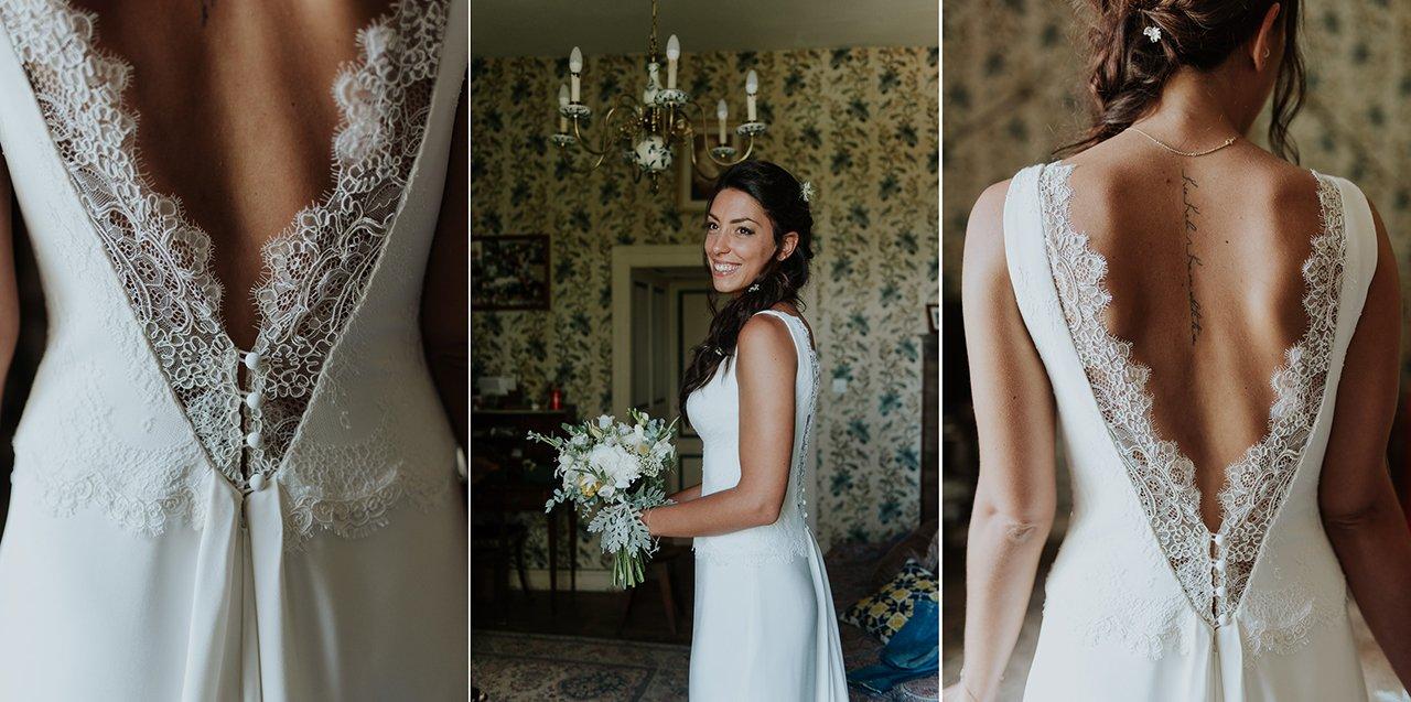 vestido novia vintage espalda al aire