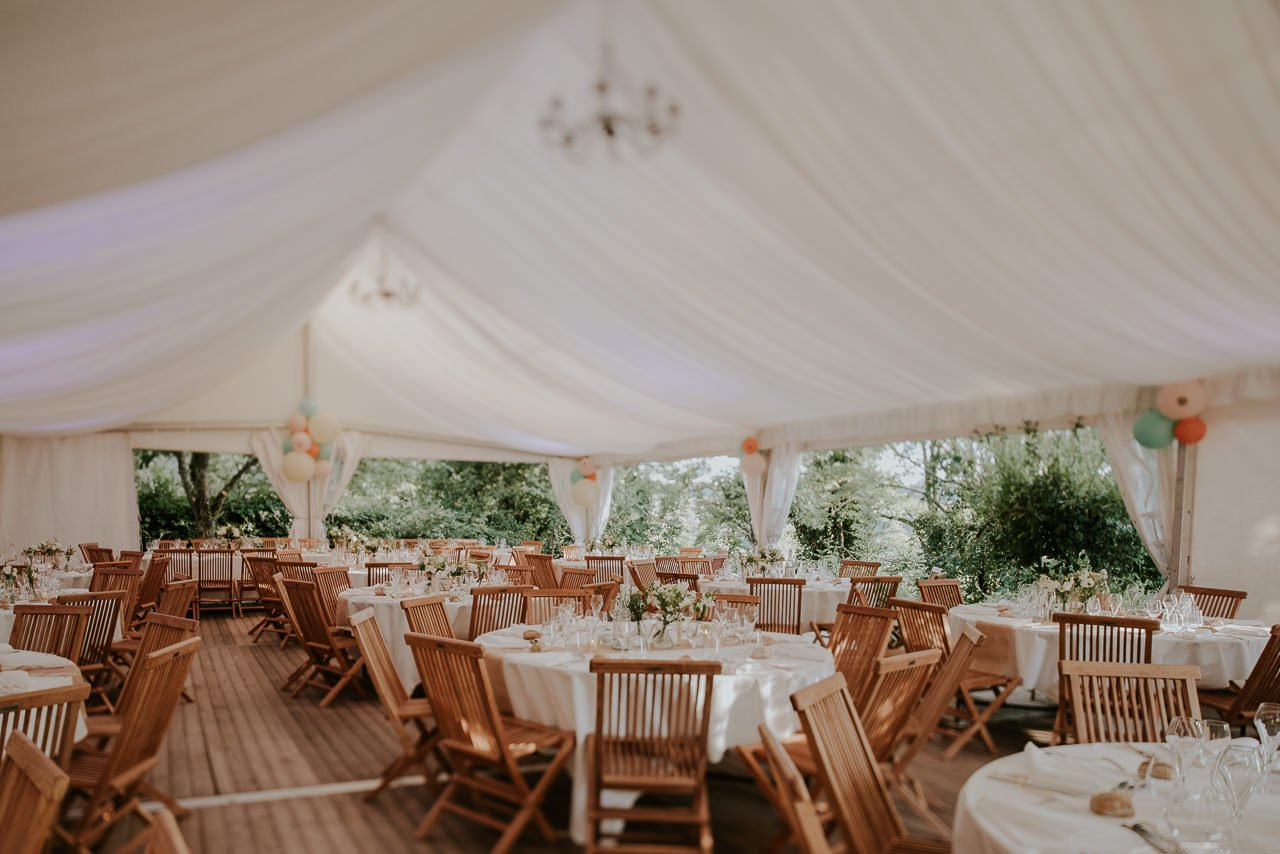 banquete boda rural