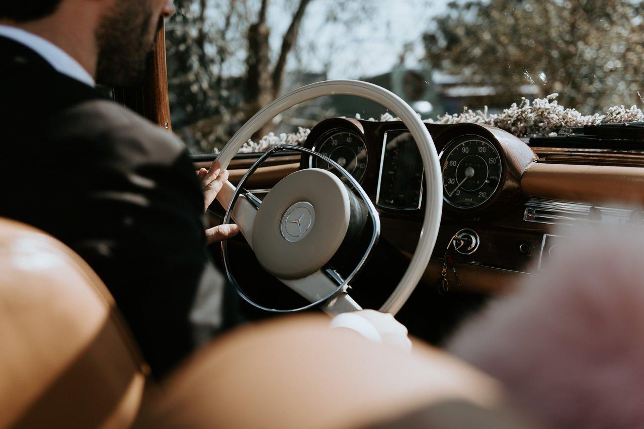 boda coche clasico