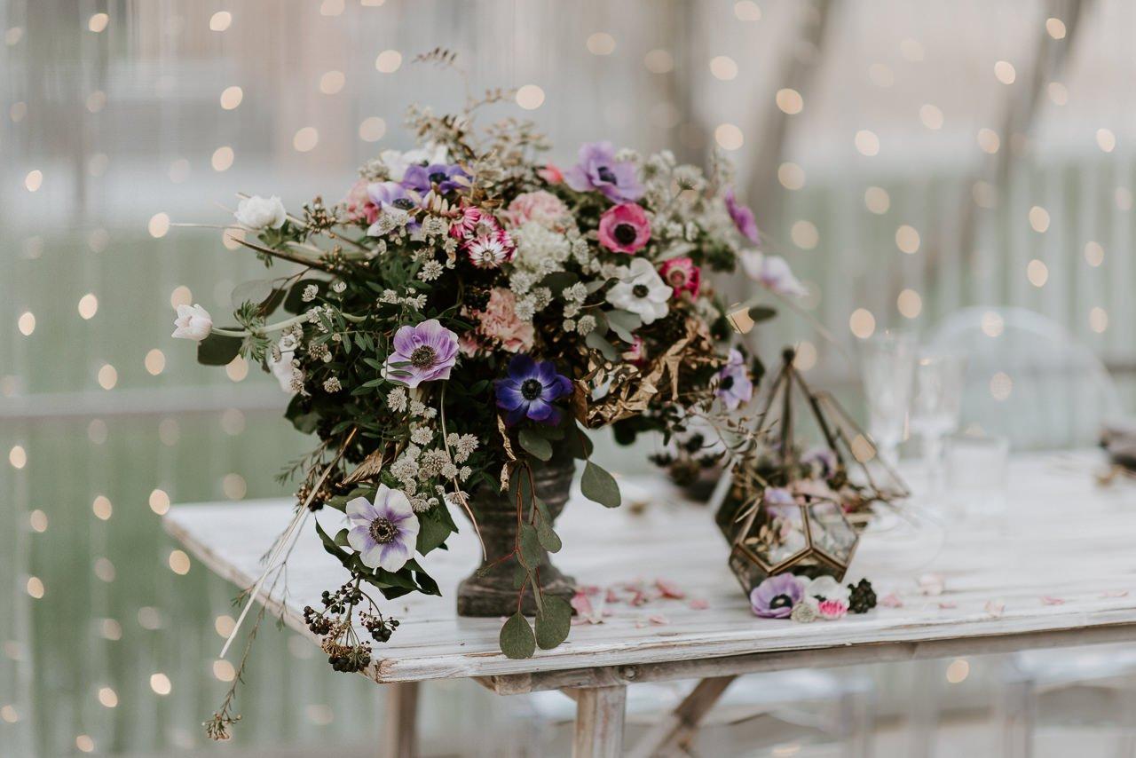 centro floral para bodas