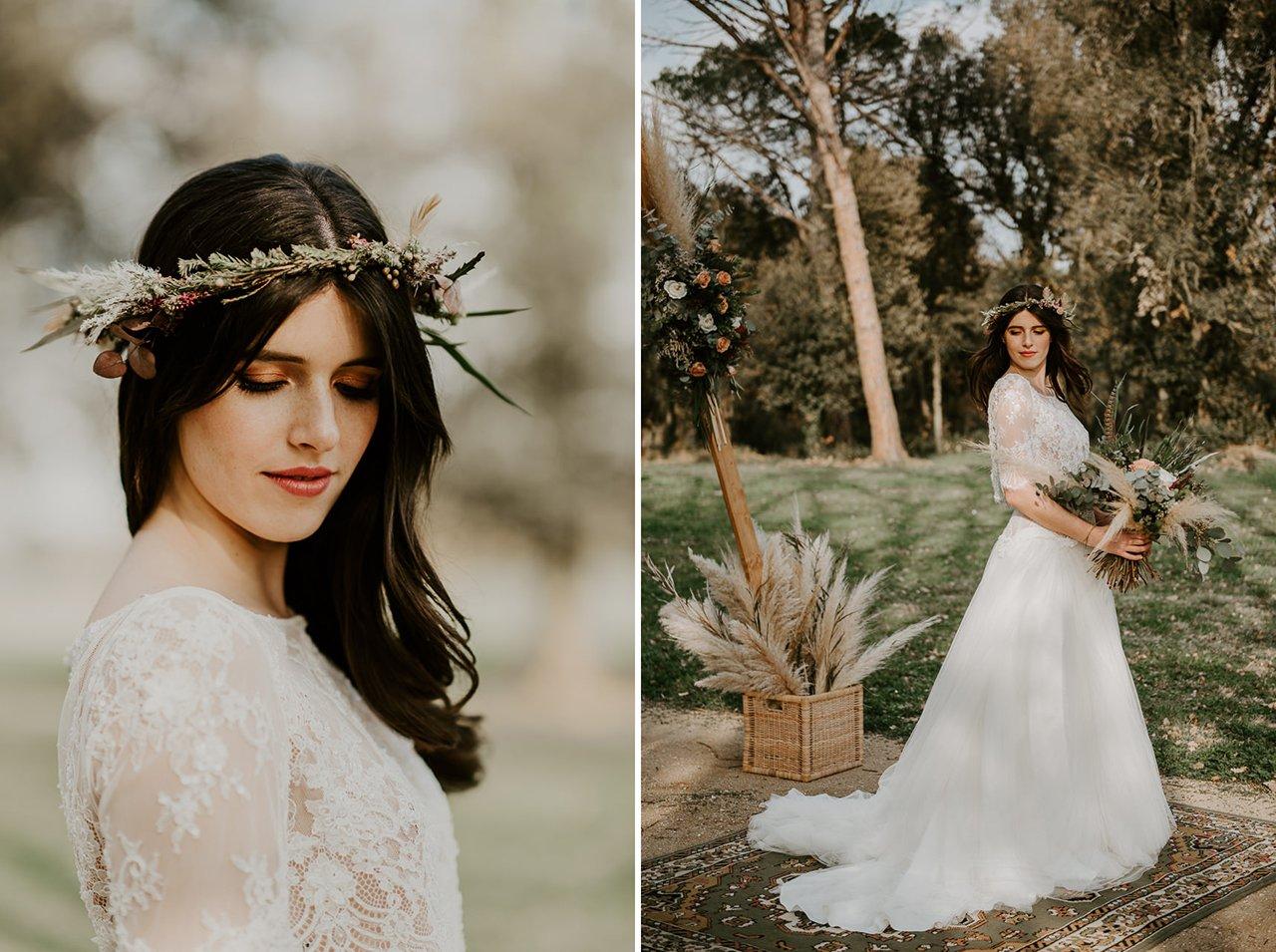 vestido novia boho Rosa Clará