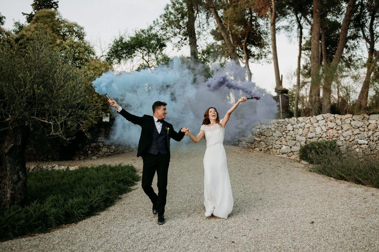 bomba de humo para bodas