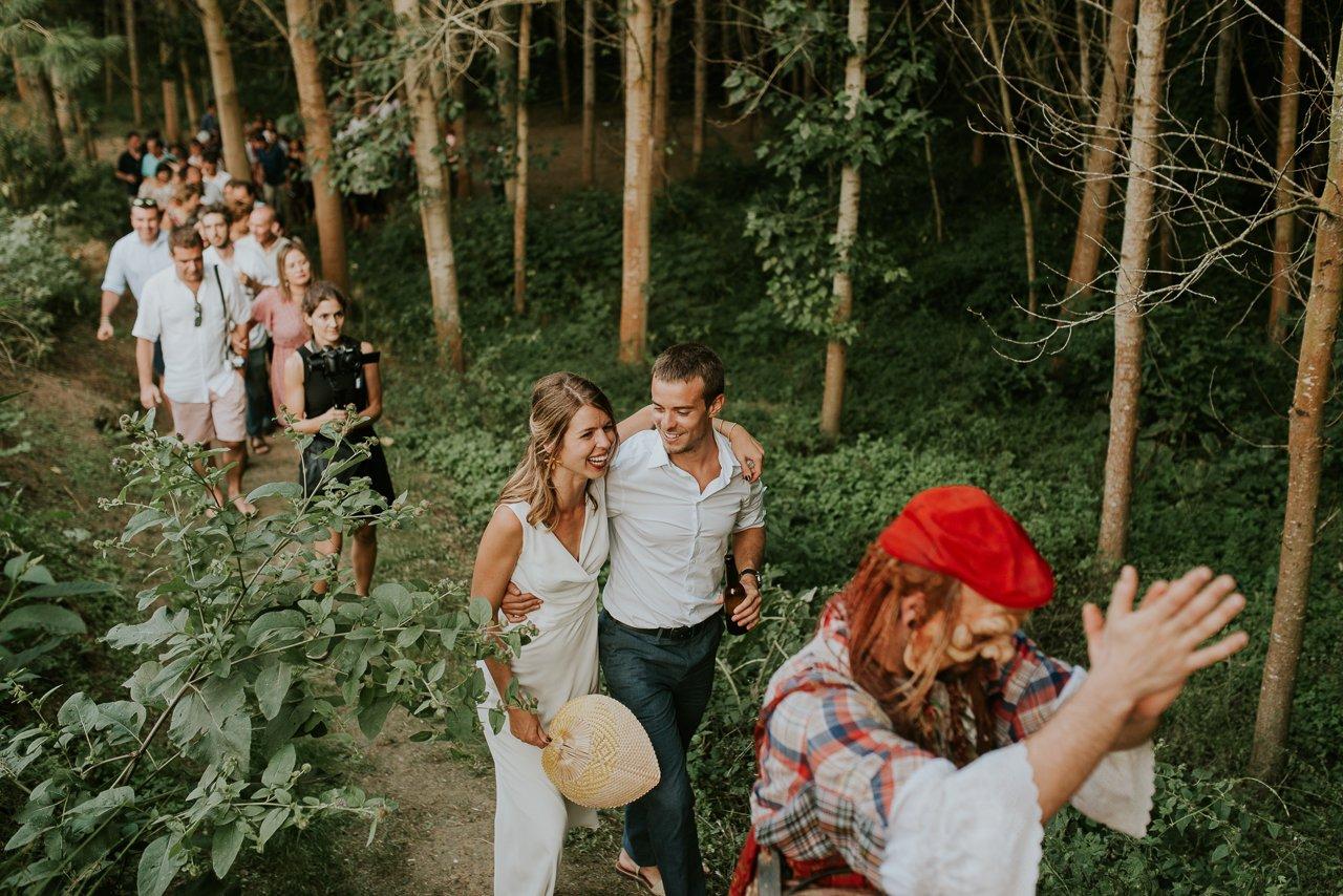 boda en verano en Can Riera de la Pineda