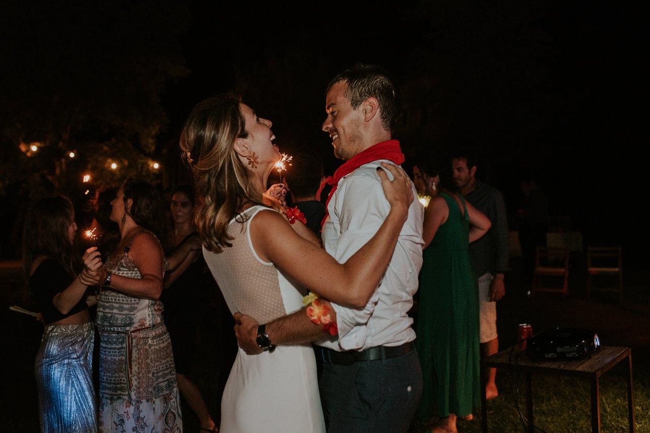 baile con bengalas Can Riera de la Pineda