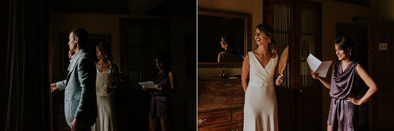 boda diferente en Can Riera de la Pineda