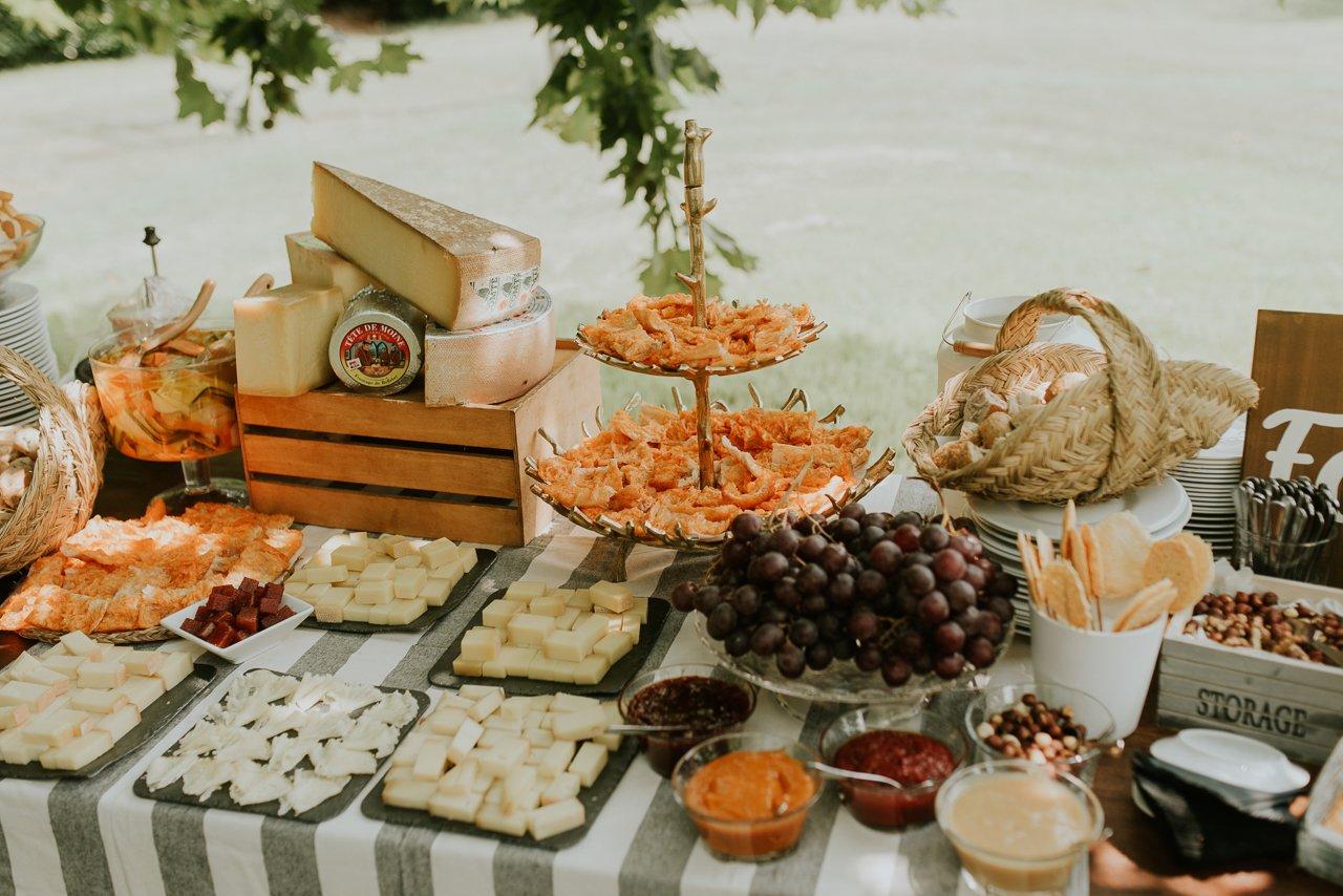 decoración para aperitivos de boda